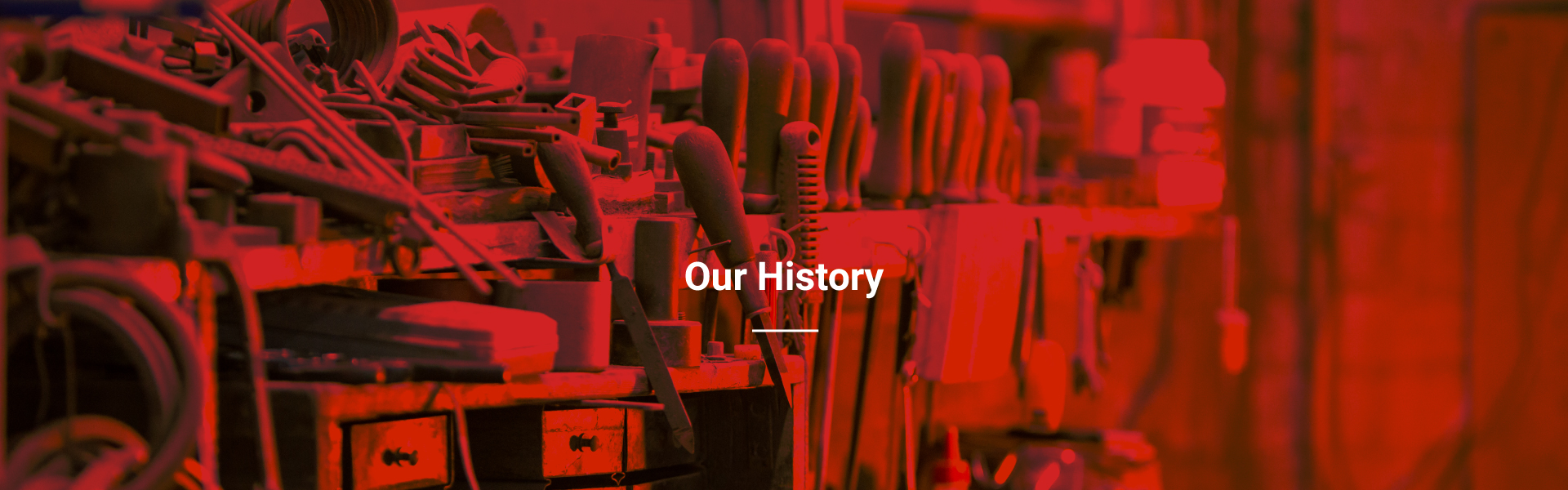 History header banner for Dukinfield Induction website About us page